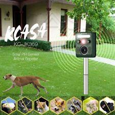KCASA Ultrasonic Solar Animal Repellent Deterrent PIR Motion Bird Fox Repeller