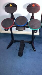 Xbox 360 Band Hero Drums And Game. MISSING CONTROLLER.