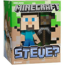 Minecraft 6-Inch Steve With Pick Axe And Grass Block Vinyl Toy Action Figure