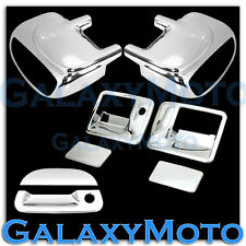 Ford F250+F350+F450 Chrome Mirror W/Signal+2 Door Handle No KH+Tailgate Cover