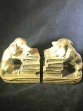 New listing Vintage Brass Dachshund Brass Bookends