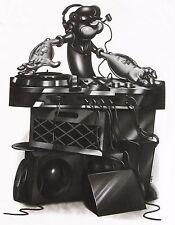 POPEYE The Sailor Man DJ Mixing T-shirt Comics Animated Cartoon Tee Adult 2XL