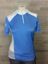 Descente Woman's Cycling Top Shirt Blue White Mesh Vent Size M