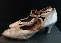 Vintage 1920's silver dance shoes
