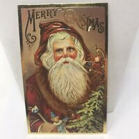 Vintage Postcard 1980 Santa Claus Merry Christmas Holiday