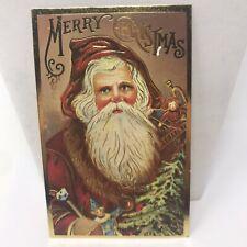 Vintage Postcard 1980 Santa Claus Merry Christmas Holiday