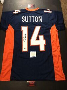 Courtland Sutton Broncos Autographed Sz XL Jersey Football Beckett BAS Certified