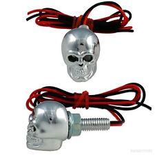Accent Light Fastener Green Motorcycle Car Skull LED License Plate Bolts 12V