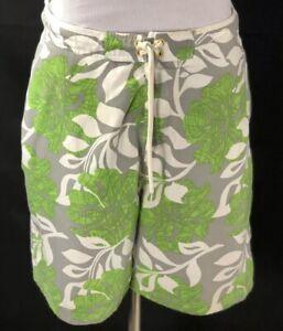 Speedo Mens XL Shorts SwimTrunks Swimsuit Green Gray White