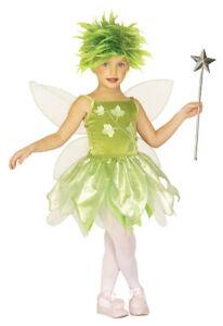 Waldfee Elfe Kostüm Mädchen Schmetterling Grün Kinderkostüm Gr. 104 110 %SALE%