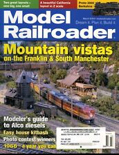 Model Railroader Magazine March 2004 Mountain vistas on the Franklin & South Man