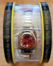 2002 Joe Boxer Wristwatch Red Face W/Smiley Face New In Box