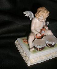 German Porcelain Cherub  Kister Scheibe Alsbach Drummer Putti  figurine