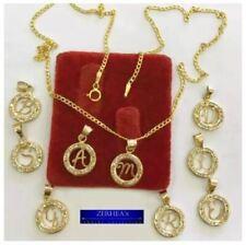 ZERHEA's Cute Initial Necklace w/ Russian Diamonds 18k