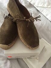 Chloe, Fringed Suede Espadrilles in Beige/Khaki, Size ***41*** Brand New