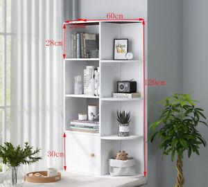 Corner Bookshelf Cupboard Display Cabinet Bookcase Shelving Shelf Unit Decor New