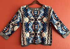 NEW  Anthropologie Patterned Jacquard Knit Pullover Sweater by Moth