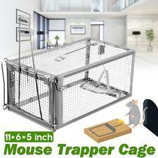 Metal Mouse Trap Humane Live Catcher Tool Rat Vermin Rodent Cage Traps Pest UK