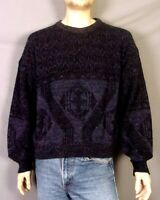 vtg 80s 90s Sweater Graphix Iridescent Whispy Fleck Ugly Cosby Sweater sz XL