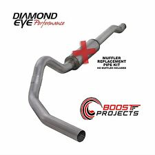 "Diamond Eye 4"" Aluminized Cat-Back Exhaust Kit No Muffler K4338A-RP"