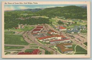 Oak Ridge Tennessee~Air View of Town Site~Vintage Postcard