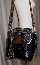 BRACCIALINI borsa bauletto in vernice colore nero