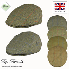 100% British made Traditional Flat cap in 100% wool with Teflon coating