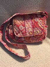 Vera Bradley Purse Adjustable Shoulder Strap Pink Large Back Zip Pocket
