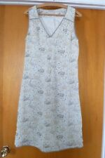 PART TWO White Gray Floral Viscose A-Line Sleeveless V-neck Dress Size 6 (36)