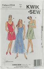KwikSew Pattern #2599 Misses DressPull-Over Length Variations Sz(XS-S-M-L-XL)