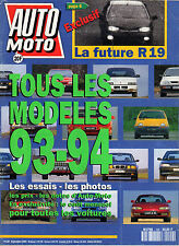 REVUE MAGAZINE AUTO MOTO N°129 09/1993 TOUS LES MODELES 93-94 FUTURE RENAULT 19