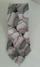 Steven Harris Baseball Necktie Gray Red Black Hand Made