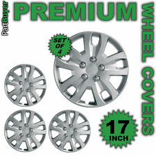 "Astra 17 ""rueda trims/hub Tapas Cubre Set De 4 Plata Universal"