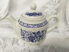 Sadler Small Teapot Blue & White / Single Teapot