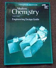 Modern Chemistry Engineering Design Guide Teacher Edition Sarquis 9780544888074