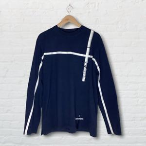 Lambretta Long Sleeve Blue MOD Style Mens T-Shirt UK Size XL