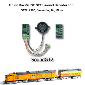 GE GTEL 4500 hp and Veranda turbine Sound GT2 decoder for Athearn and brass