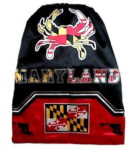 Fashion Drawstring Gym Training Maryland State Flag Crab Drawstring Backpack Bag