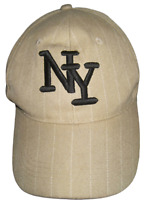 Ballcap Unisex Adult Adjustable NEW YORK souvenir embroidered wool acrylic