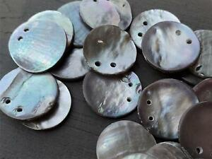 Mother of Pearl MOP Double Drill Two Hole Disk Shell Beads Sequins DIY Jewelry