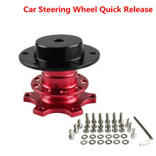 Universal Red Car Steering Wheel Quick Release HUB Racing Adapter Snap Off Boss