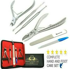 Professional Toe Nail Clipper Cutter Set of 6 - Chiropody Heavy Duty Thick Nails