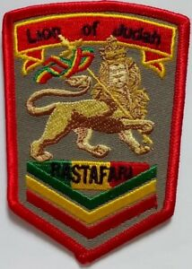 """RASTA Lion of Judah Embroidered Patches 3.6""""x2.6""""  iron-on"""