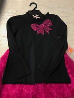 NEW Jona Michelle 2-Piece Embellished T-Shirt w/ Skirt Set - BLACK/PINK