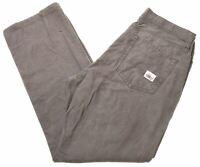 EDDIE BAUER Mens Trousers W35 L30 Khaki Cotton Straight NT02