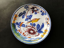 New listing  Fantastic English Delft / Tinglazed Plate With Exotic Bird, Bristol 1760 - 1770