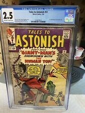 TALES TO ASTONISH #51 CGC 2.5..2ND HUMAN TOP..Showdown With The HUMAN TOP!