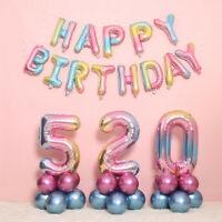 "32"" Foil Balloon Large Number Shape Colorful Baby Birthday Party Gift Decoration"