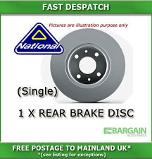 1 X REAR BRAKE DISC FOR VW POLO 1.0 10/1981 - 10/1986 2107