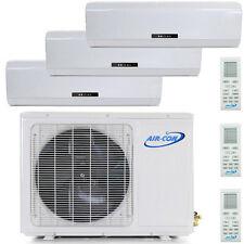 27000 BTU Tri Zone Ductless Mini Split Air Conditioner - Heat Pump: 9000 BTU x 3